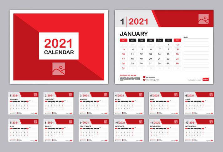 Calendarios de Mesa de Plástico