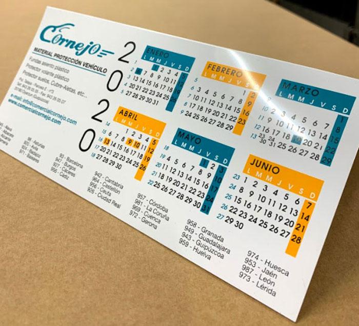 Calendarios de Sobremesa de Plástico